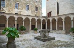 Cloître du monastère franciscain, Zadar Images libres de droits