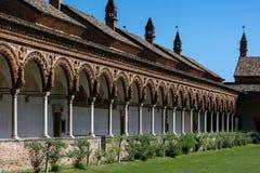 Cloître grand du monastère de Pavie de Di de Certosa, Italie Photos stock