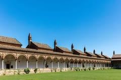 Cloître grand du monastère de Pavie de Di de Certosa, Italie Photo libre de droits