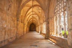 Cloître royal de monastère de Batalha photos libres de droits