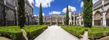 Cloître royal du monastère de Batalha photos libres de droits