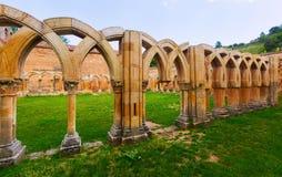 Cloître ruiné de San Juan de Duero Images libres de droits