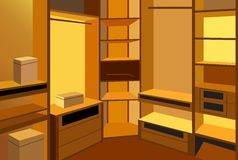 Cloackroom vector Royalty Free Stock Photography
