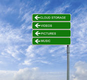 Cload storage Stock Images