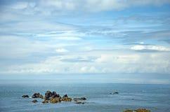 Cloadscape van de Cornwall kust stock afbeelding