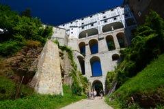 Cloak bridge. Český Krumlov castle. Czech Republic Royalty Free Stock Photos
