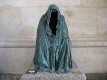 The Cloak of Conscience, Piétà or Commendatore, empty coat made by Anna Chromy Stock Photos
