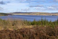 Clocaenog Windfarm και Llyn Brenig στοκ φωτογραφίες