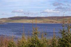 Clocaenog Windfarm και Llyn Brenig στοκ εικόνες
