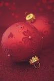 cloce för jul för ap-bakgrundsbaubles Royaltyfria Foton