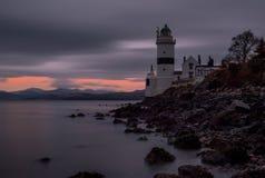 Cloch latarni morskiej gourock Scotland Zdjęcie Stock