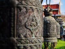 Cloche bouddhiste au foyer sélectif Images libres de droits