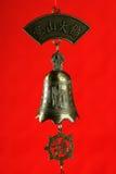 Cloche chinoise avec Bouddha Image stock