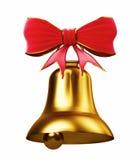 Cloche d'or Image libre de droits