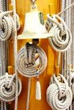 Cloche de corde et d'anneau Image stock