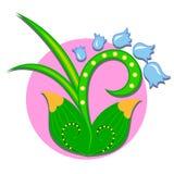 Cloche de fleur - objet d'isolement par résumé Images stock