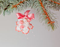 Cloche de main de Noël. Photos stock