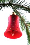 Cloche de Noël rouge Images stock