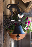 Cloche de porte le chat Photographie stock