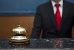 Cloche de service hôtelier Photo stock