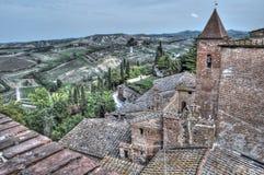 Cloche de tour d'église dans Certaldo Image libre de droits