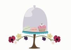 Cloche en verre en verre de boulangerie Photographie stock
