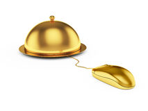 Cloche with mouse Royalty Free Stock Photo