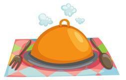 Cloche restaurant Royalty Free Stock Photo