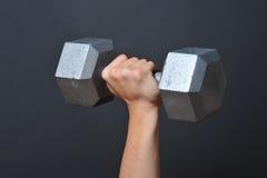 Cloche sourde-muette de levage de poids images stock
