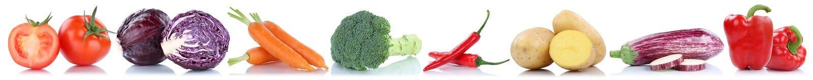 Cloche végétale p de tomates de pommes de terre de nourriture fraîche de carottes de légumes image libre de droits