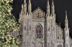 Clochers de cathédrale à Noël, Milan Image libre de droits