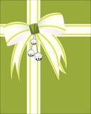 Cloches argentées avec l'enveloppe de Noël Photo libre de droits