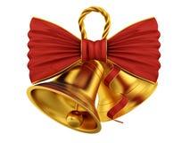 Cloches d'or Image libre de droits