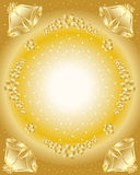 Cloches d'or avec le houx illustration libre de droits