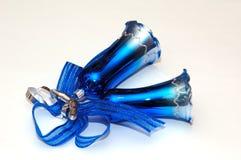 Cloches de Noël bleues Photographie stock