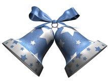 Cloches de Noël brillantes avec des étoiles Photos libres de droits
