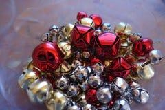 Cloches de Noël, tache floue Photos libres de droits