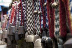 Cloches de yaks photographie stock