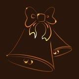Cloches rougeoyantes illustration de vecteur