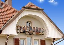 Cloches suisses 2 de vache Images stock
