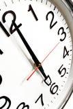 Clock 02. Clock showing 6 o'clock Royalty Free Stock Photography