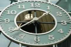 Clock. View of a clock Royalty Free Stock Photo
