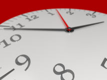 Clock. 3d illustration of time concept Stock Photos