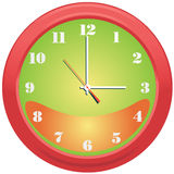 Clock. Office and home wall clock Stock Image