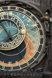 Clock. Astronomical clock tower in Prague Stock Images