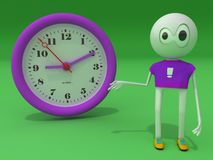 Clock. The character shows on hours royalty free illustration