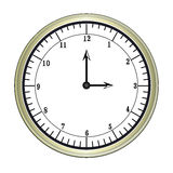 Clock. Round clock in white background Stock Image