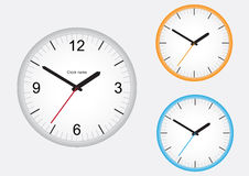 Clock. Wall office clock isolated on a white background vector illustration