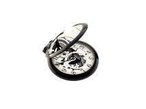 Clock. On white bg, 3d studio visualisation Royalty Free Stock Image