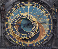 Clock. Photo of old astronomical clock Royalty Free Stock Photos